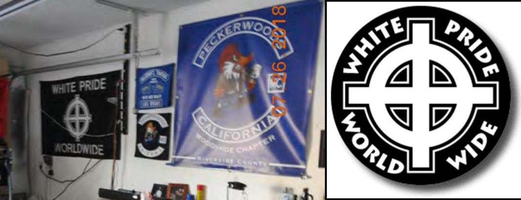 Banners that were hanging in Moncrief's garage at the time the search warrant was executed.