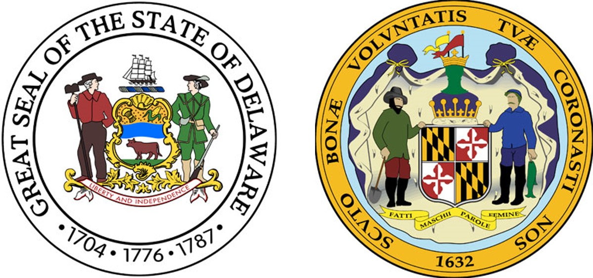 State Seals of Delaware and Maryland
