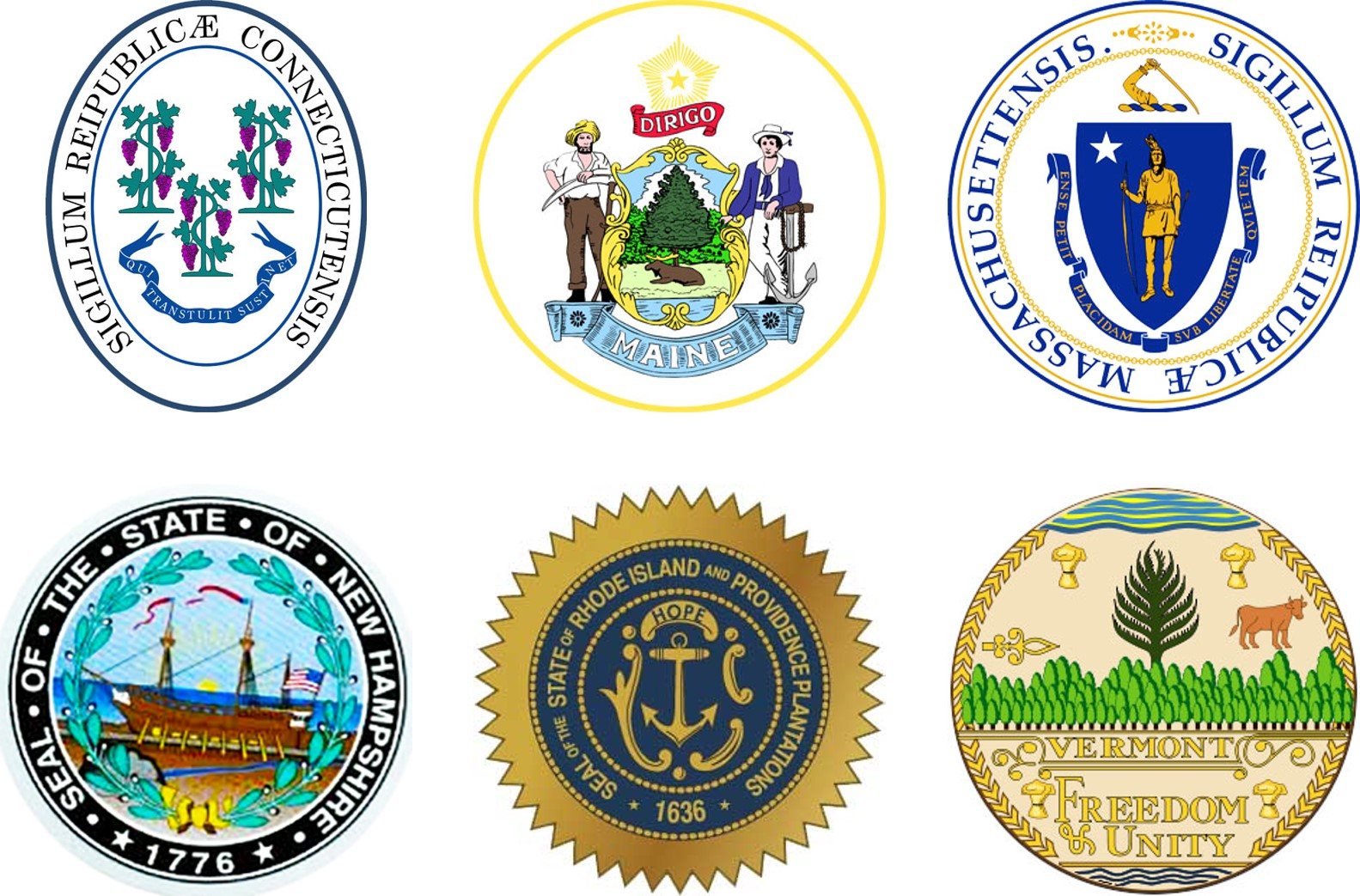 Boston Field Division State Seals