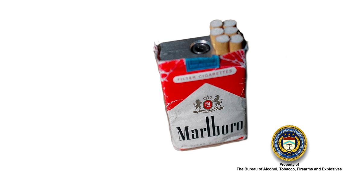 Picture Cigarette Pack Gun