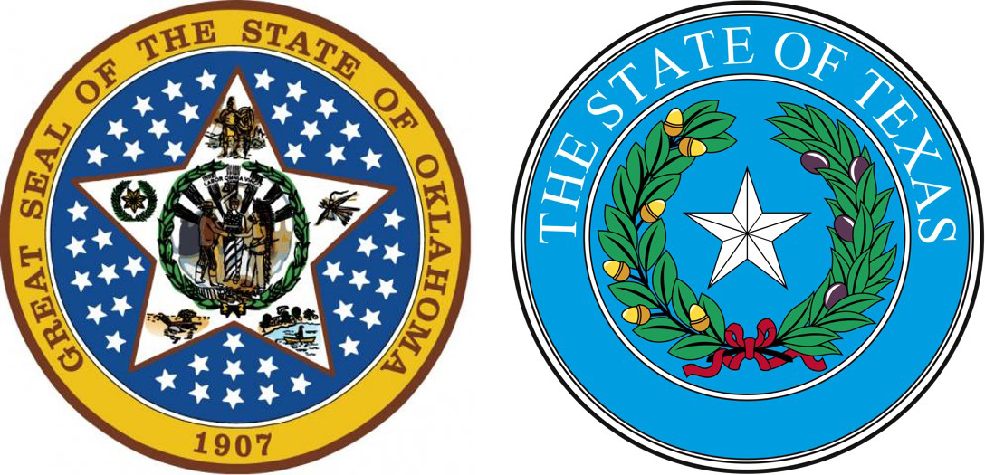 State Seals of Oklahoma and Texas