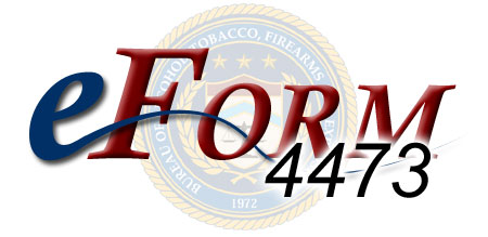 Banner for eForm 4473 with the ATF seal behind it.