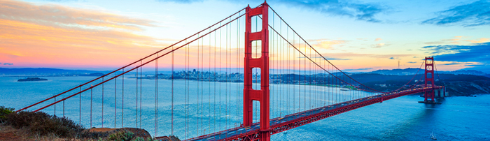 Image of the Golden Gate bridge in San Fransisco