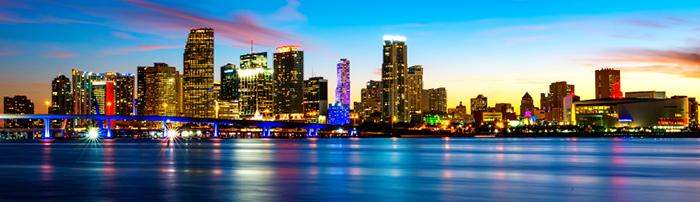 Image of Miami skyline at dusk