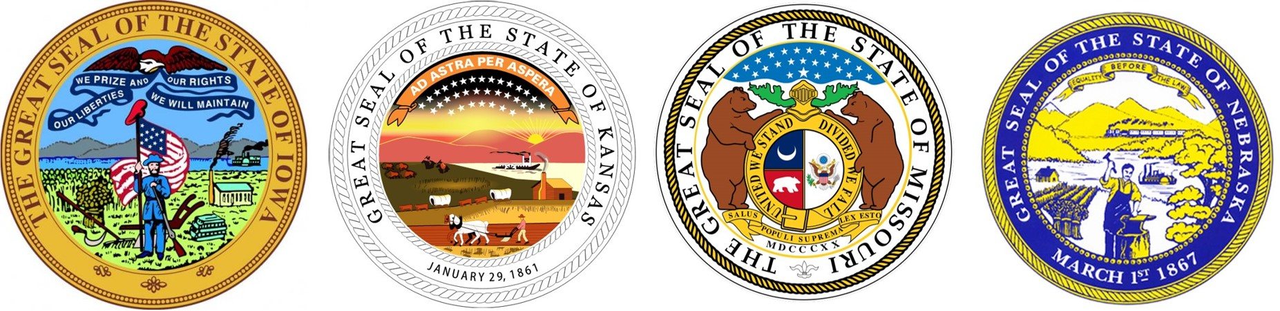 Kanasas City Field Division State Seals