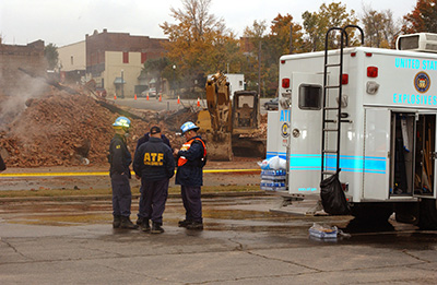 Picture 4 of ATF National Response Team working an Investigation in an Undisclosed Area