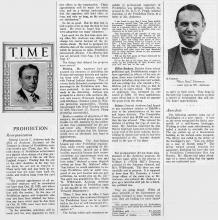 Larger Image of Time Article on Prohibition Reorganization