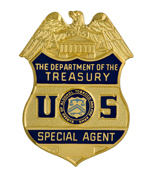 Image of the Department of the Treasury, Bureau of Alcohol, Tobacco and Firearms badge