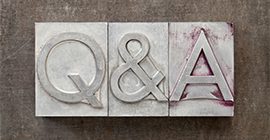 Image of the letters Q and A