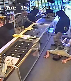First image from camera showing KSE robbery
