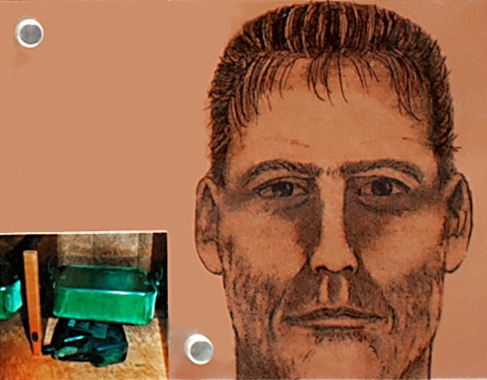 A sketch of the suspected perpetrator.