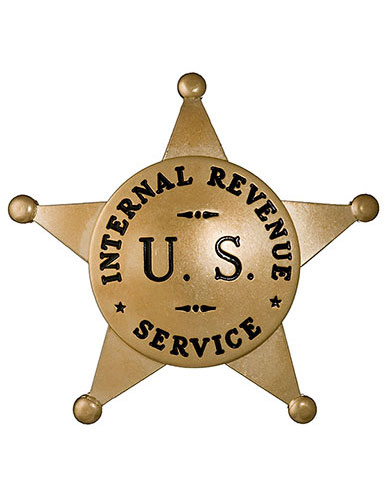 Image of badge for the Office of the Commissioner of Internal Revenue U.S. Department of Treasury 1791-1919