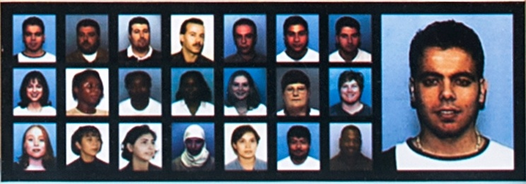 Image of 22 defendants who were indicted and arrested.
