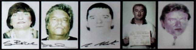 Image of the five suspects arrested in 2000 and later convicted on various federal firearms charges.