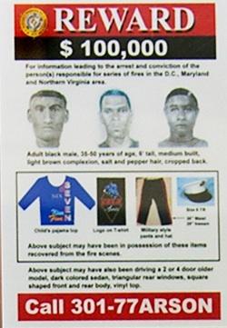Picture of DC Arsonist Reward Poster