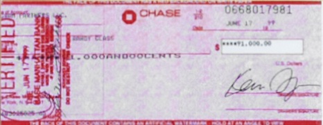 Image of Check used in Money Laundering