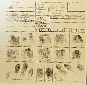 Image of Grand Dragon William Dodge booking fingerprints