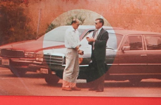 ATF Special Agent Richard Stoltz and one of Operation Dragonfire's principal defendants meet in a parking lot.