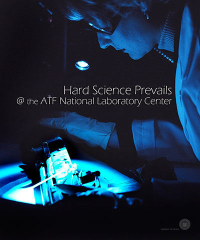 Image of an ATF Lab Tech Testing evidence