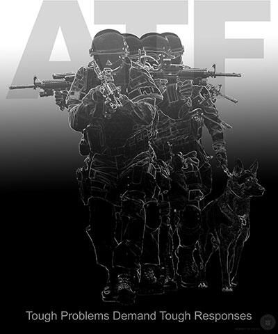 Image of an ATF assault team