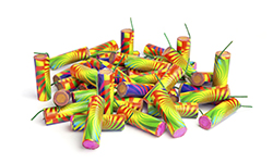 Image of a pile of consumer fireworks