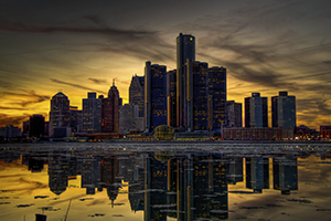 Image of the Detroit city skyline