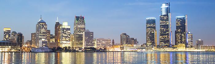 Image of Detroit Michigan's skyline