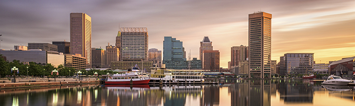Image of the Baltimore Maryland skyline