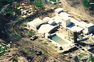 Aerial view of the Mount Carmel Compound.
