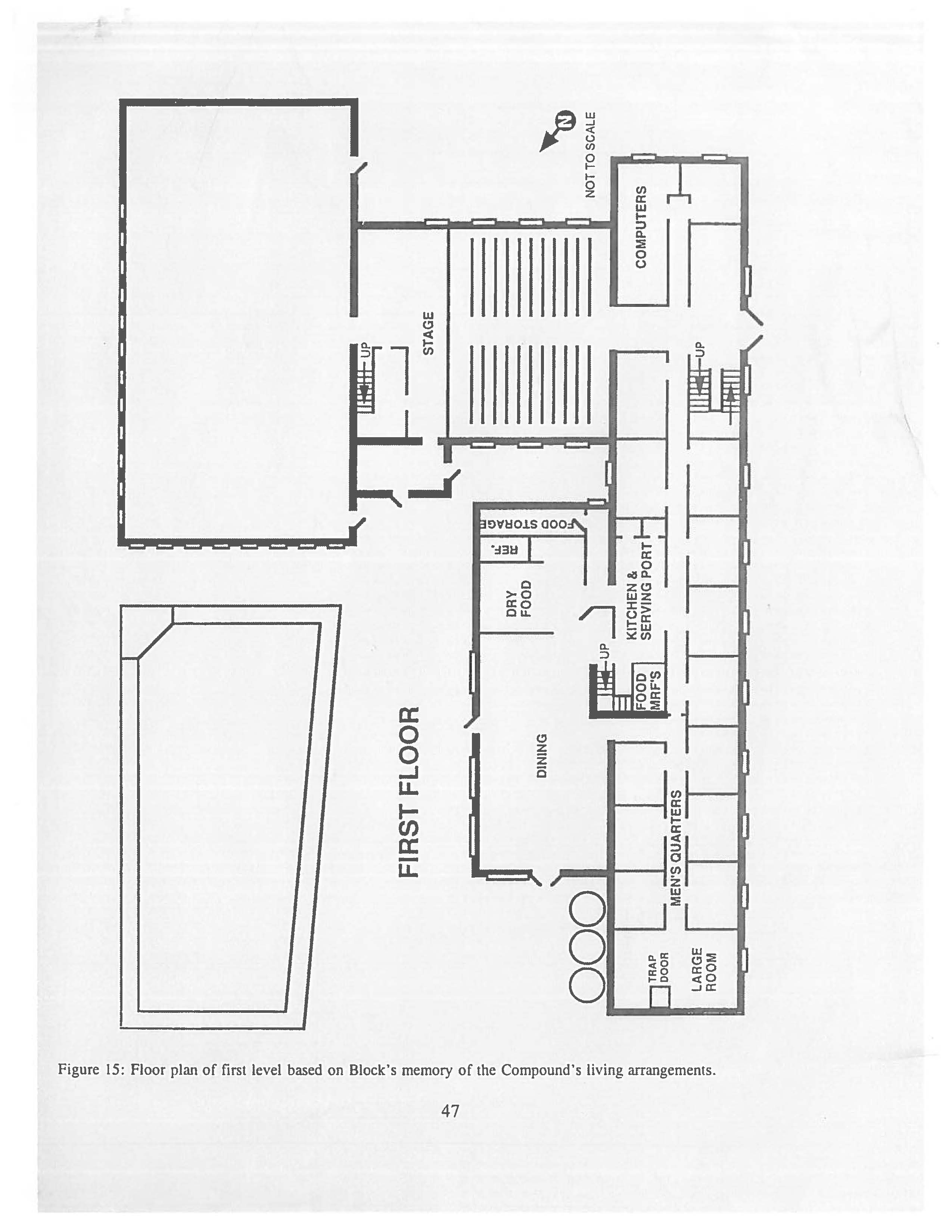 Mount Carmel floor plan of the 1st level.