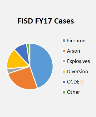 A chart illustrating the Financial Investigative Services Division cases