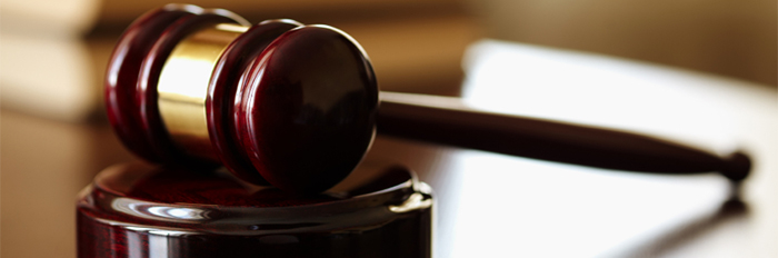 Image of a gavel on a desk