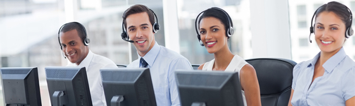 Image of people in a call center