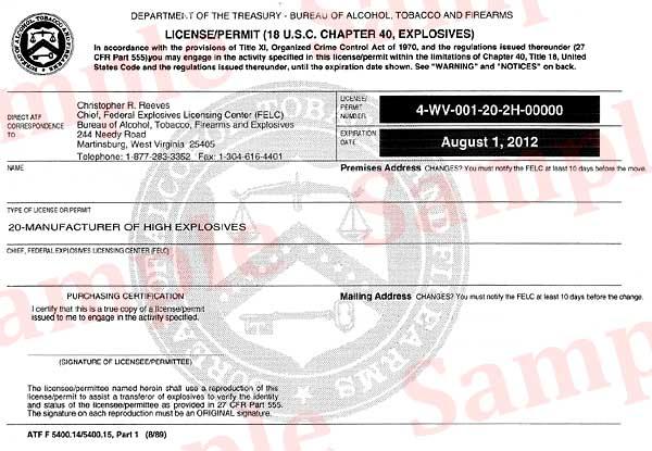 Sample of a FEL Form