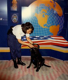 Special Agent Grace Reisling and K-9 Charlie at work_1996