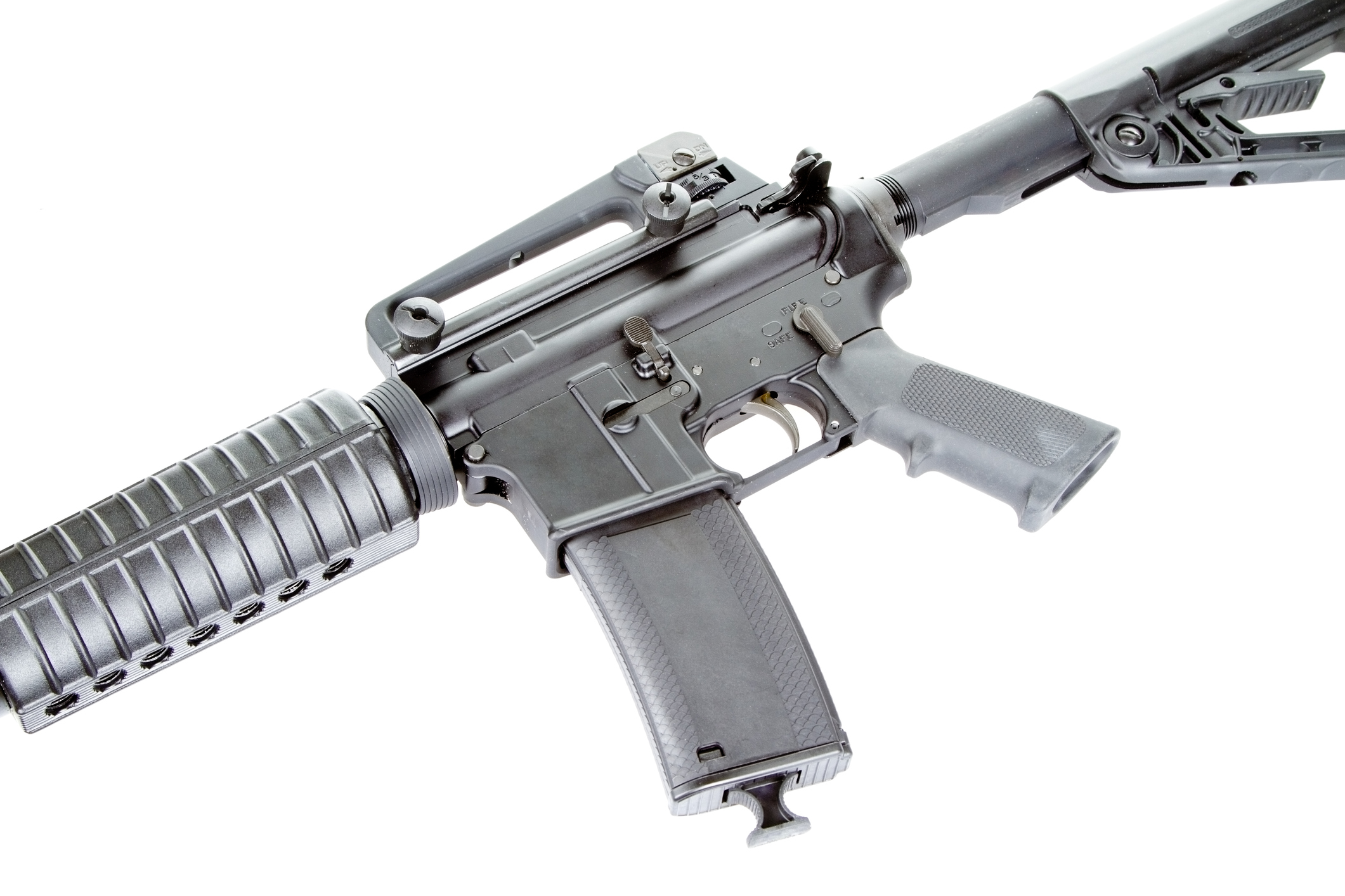 an assault rifle
