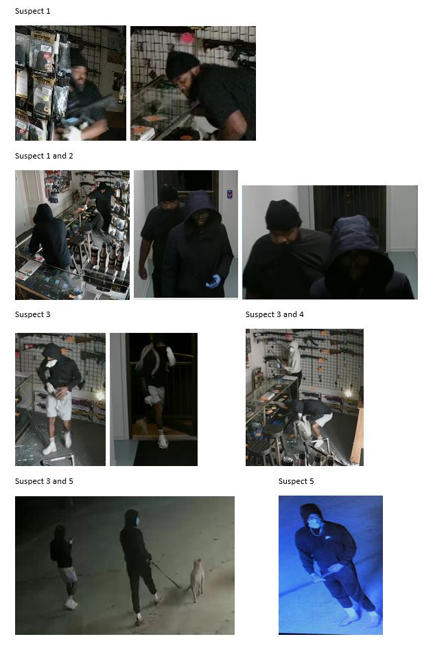 still images, suspects, FFL robbery, Delaware
