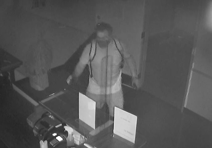 Still-frame photos of surveillance footage on May 30, 2020 of LA field division's robbery suspect.