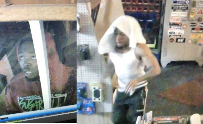 Photos of two suspects provided by business