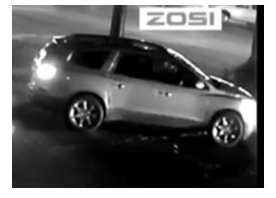 SUV captured by surveillance camera.