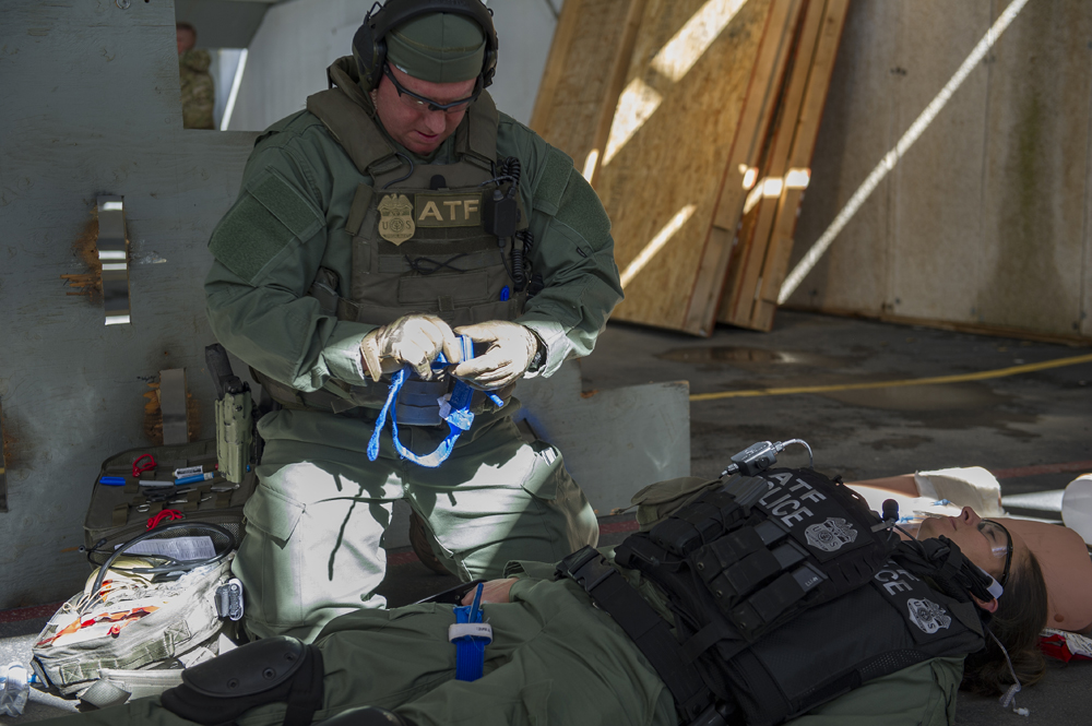 ATF special response team medics participate in emergency medical  training program.