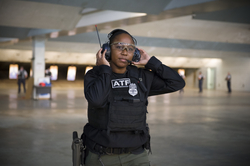 Firearms instructor Misty Waytes at the range