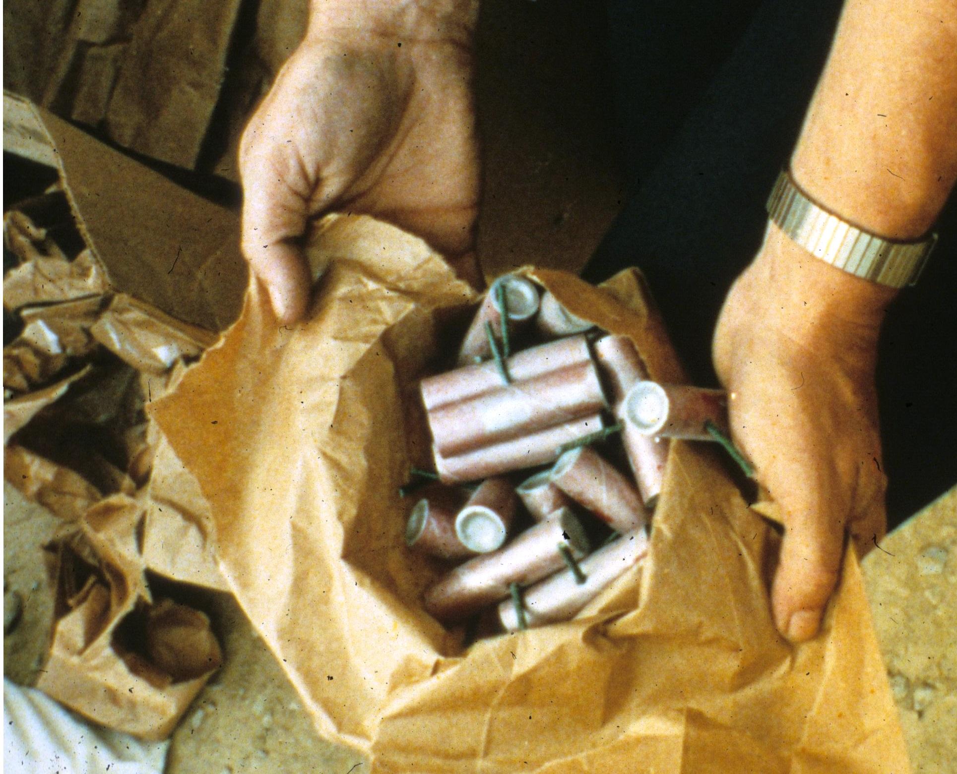 A bag full of M-80 explosives