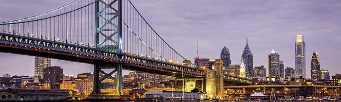 Image of the Ben Franklin Bridge in Philadelphia