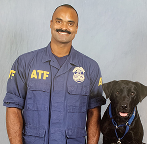 Special Agent Canine Handler Goodman and K-9 Haiku official portrait