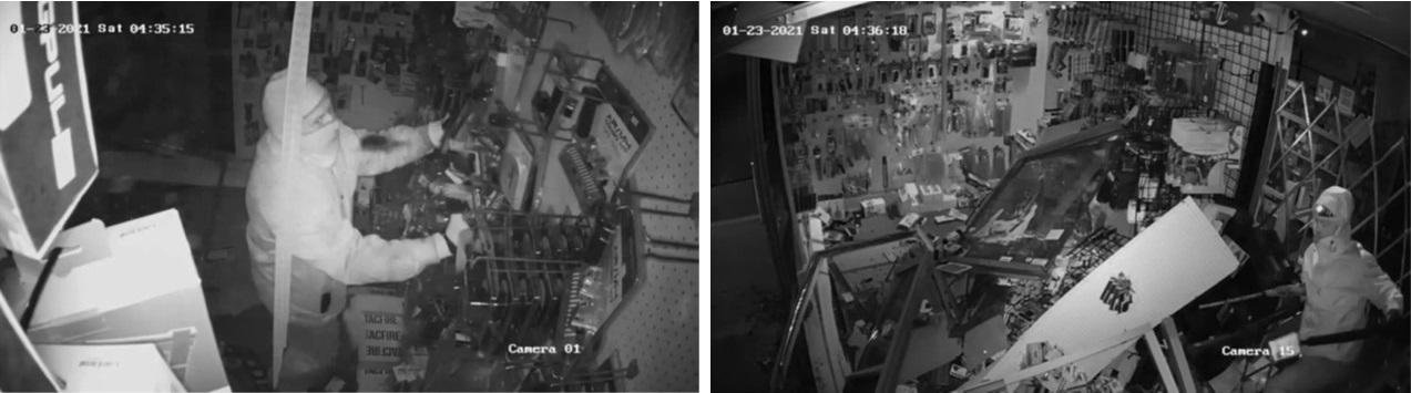 Burglary suspects of GunRunner Arms
