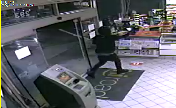 Suspect in attempted robbery at Exxon gas station