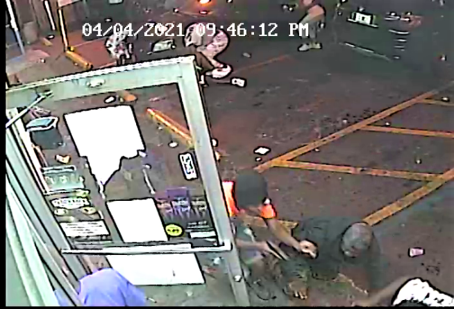 Surveillance footage of suspects in the Tony's Market shooting