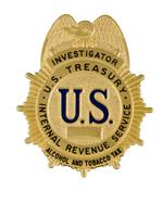 US Treasury, IRS Investigator badge - Alcohol and Tobacco Tax Division