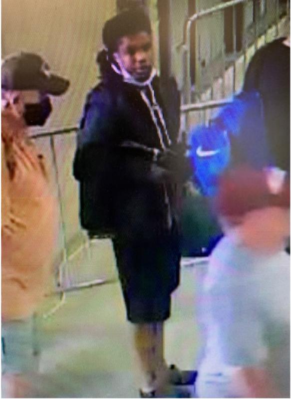 Suspect standing in line